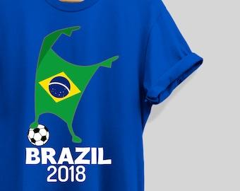 f8fd4c16 Brazil Shirt Flag 2018 Football Cup Soccer Dabbing World Jersey Tee T-Shirt  Brazil TShirt