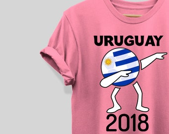 Uruguay Soccer Football 2018 Cup Shirt Flag Dabbing World Jersey Tee T-Shirt  Uruguay TShirt Boys Girls Men Women Kids Adults Clothing d1da1023c