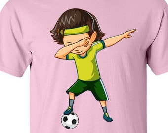 ebf58bc47c5 Football Girl Dabbing   Soccer Girl T Shirt   Dabbing Shirt For Girls    Funny Dab Tshirt for Boys   Football Shirt   Soccer Mens Shirt