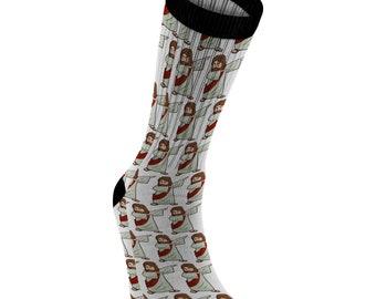 e809f5a373d Dabbing Jesus Socks for Men Women Boys Girls
