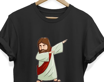 97ca8b36 Dabbing Jesus Tee Shirt for Men Women Boys Girls, Holiday Decor Funny Gifts  for Christmas Christians