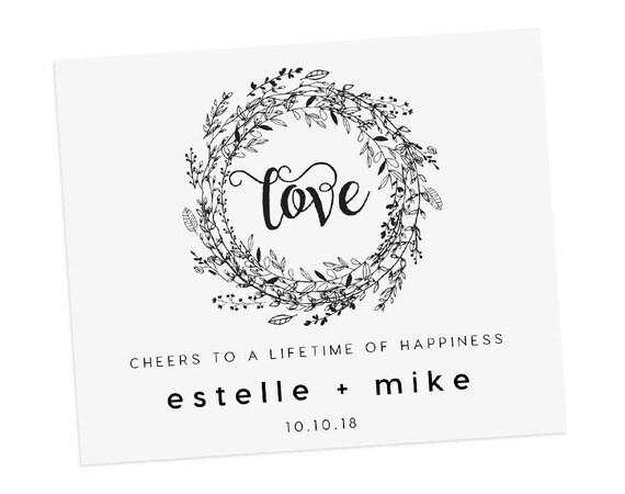 Wedding Wine Labels Editable Pdf Template Instant Download Wedding