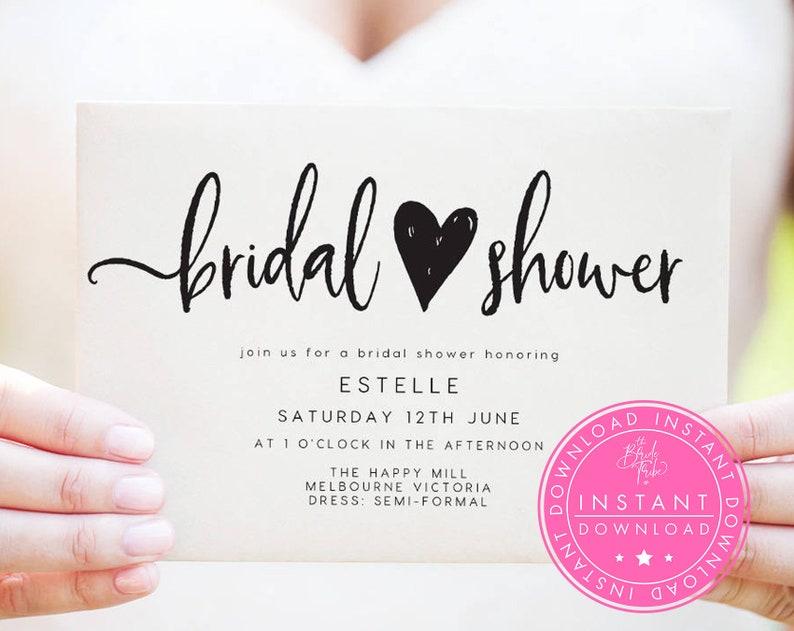 Bridal Shower Invitation INSTANT DOWNLOAD  Bridal Shower image 0