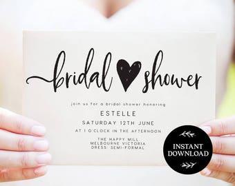 Bridal Shower Invitation INSTANT DOWNLOAD,  Bridal Shower Invite, Before I do, Bachelorette Printable, Hens Night Invitation - Georgie