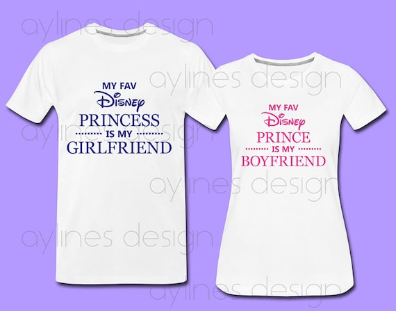 picture regarding Printable Shirts titled My Beloved Disney Princess/Prince is my Girlfriend/Boyfriend Print for Couple of, Wedding ceremony Shirts. Printable PDF PNG JPG through aylines