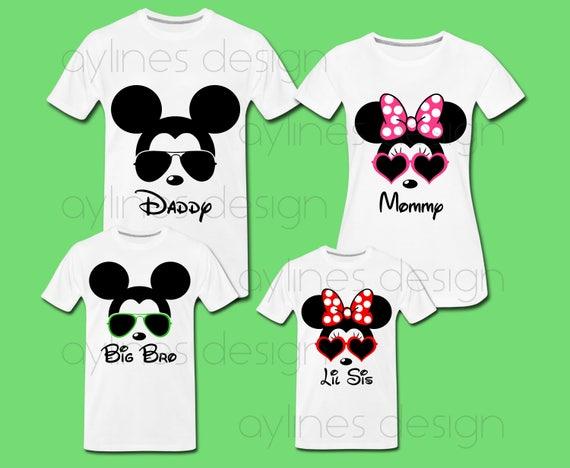 Minnie Mouse T Shirt Design | Minnie Micky Maus Sonnenbrillen Prints Fur Disney Familien Etsy