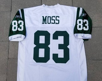 New York Jets Reebok Football Jersey  83 Santana Moss Size 48 XL Men s NFL 7f1cc449b