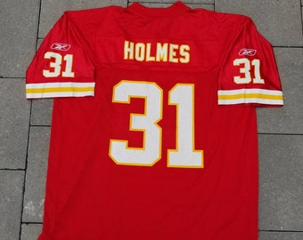 Kansas City Chiefs Reebok Football Jersey  31 Priest Holmes Size XL Men s  NFL 8926eb827