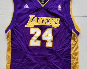 caf0e102ac0 Adidas Los Angeles Lakers NBA Basketball Jersey  24 Kobe Bryant Size Large  Youth