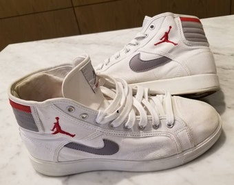 37606ccaff6b13 Air Jordan Sky High Canvas White Size 10 Men s Michael Jordan Basketball
