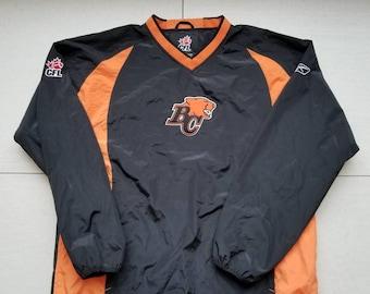 BC Lions Reebok Pullover Windbreaker Jacket Size Medium Men s CFL Canada 91c8c0186