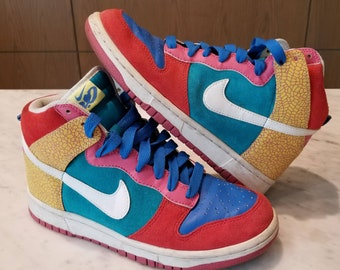 detailed look 99836 ecb76 Nike Dunk High 6.0 Multicolored High Top Sneakers Size 7.5 Women s