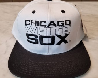 4d8287f31fd Chicago White Sox Vintage 90s American Team Deadstock Snapback Hat MLB  Baseball