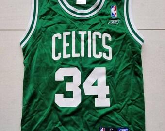 3366864f9 Boston Celtics Reebok NBA Basketball Jersey  34 Paul Pierce Size Small  Youth Boy