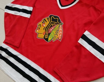 721e67127 Chicago Blackhawks Vintage CCM NHL Hockey Jersey Size Large Men s