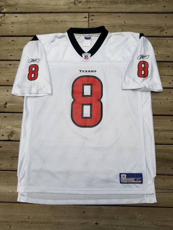 Houston Texans Reebok Football Jersey 8 David Carr Size XL  cdc8ace2a