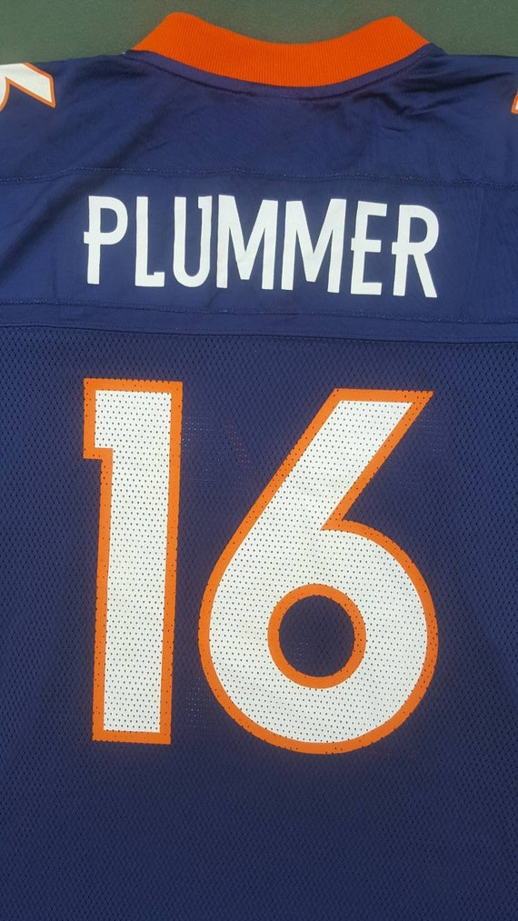 4e491e76815 Denver Broncos Reebok Football Jersey 16 Jake Plummer Size | Etsy