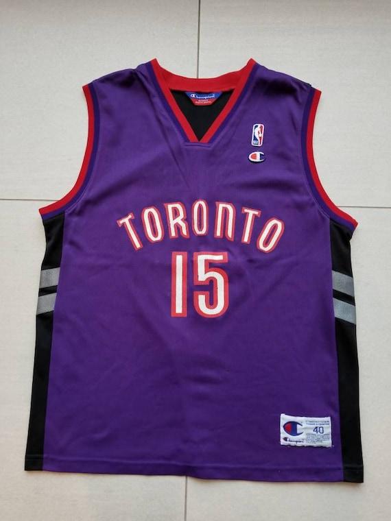 4e9dc2392 Toronto Raptors Vintage Champion Basketball Jersey 15 Vince