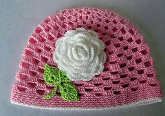Simple Crochet Hat Summer Hat Newborn Hat Pattern Basic Etsy