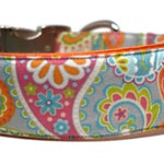 Floral Paisley Dog Collar (Martingale collar, Martingale Buckle, Buckle collar, or Cat collar) The Bali