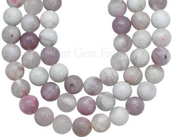full strand PICK 15 12mm 14mm Zebra Jasper gray purple round  rondelle gemstone beads