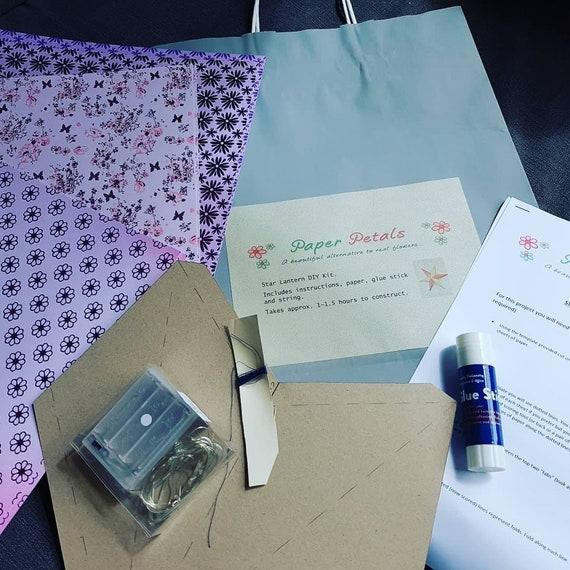 Diy Star Lantern Kit Make Your Own Paper Star Lantern Etsy
