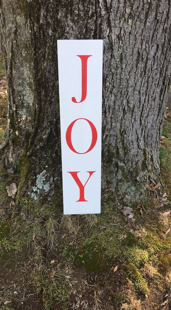Joy Sign Wood Joy Sign Joy Christmas Sign Wooden | Etsy