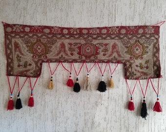 Turkish Vintage Rug Wall Hanging Decor Woven Wall Hanging Etsy