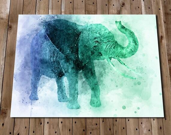 Bathroom Wall Art Elephant Print Elephant Art Elephant | Etsy