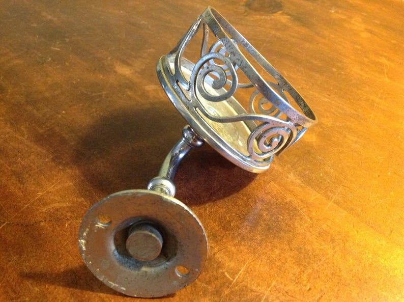 Antique Silver Plated Victorian Wall Mount Cup Holder