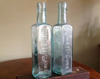 Antique Carlton's  HP Sauce Bottles
