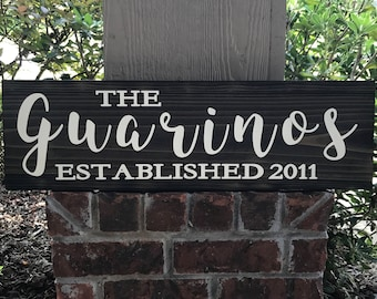 Family Name Wood Sign, Last Name Established Sign, Established Wood Sign, Home Decor, Wedding Gift, Anniversary Gift, New Home, Housewarming