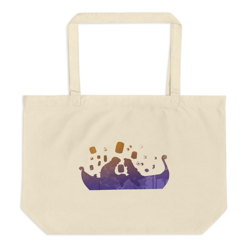 Rapunzel and Flynn Rider Tangled Disney Inspired Large organic tote bag