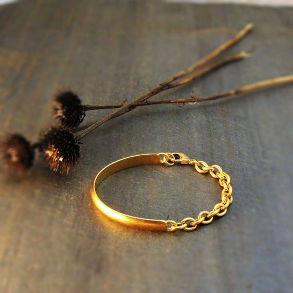 Geometric Bracelet Cable Bracelet Minimalist Bracelet Gold  c8dbbf305346