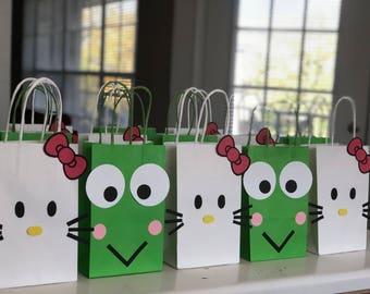 HELLO KITTY Birthday Party (Set of 10) Favors  Bags  Goodie  Goody  Loot   Candy  Treats  Supplies  Decorations  Fiesta  Gifts 9840ac9565f55