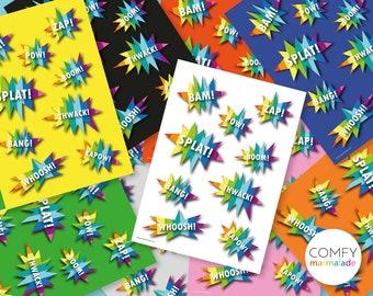 KAPOW! print A4 / A3 unframed by Comfy Marmalade - kids print - kids room - nursery - kid's gift