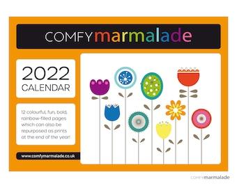 2022 WALL CALENDAR A3 by Comfy Marmalade