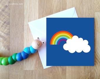 Once Upon A RAINBOW blank greetings card by Comfy Marmalade - rainbow card