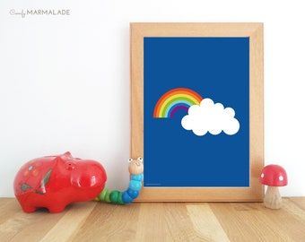 ONCE UPON a RAINBOW print A4 / A3 unframed by Comfy Marmalade