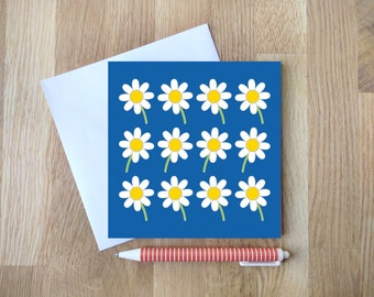 DAISIES blank greetings card by Comfy Marmalade - flower card - floral card - multipurpose card