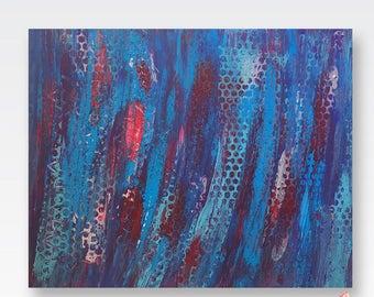 Blue Abstract Wall Art, Bright Abstract Wall Decor, Canvas Art, Blue Decor, Gallery Wall Art, Trendy Wall Art, Abstract Art, Wall Art Canvas