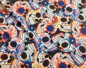 Sugar Skulls spandex fabric for costumes dance sports wear