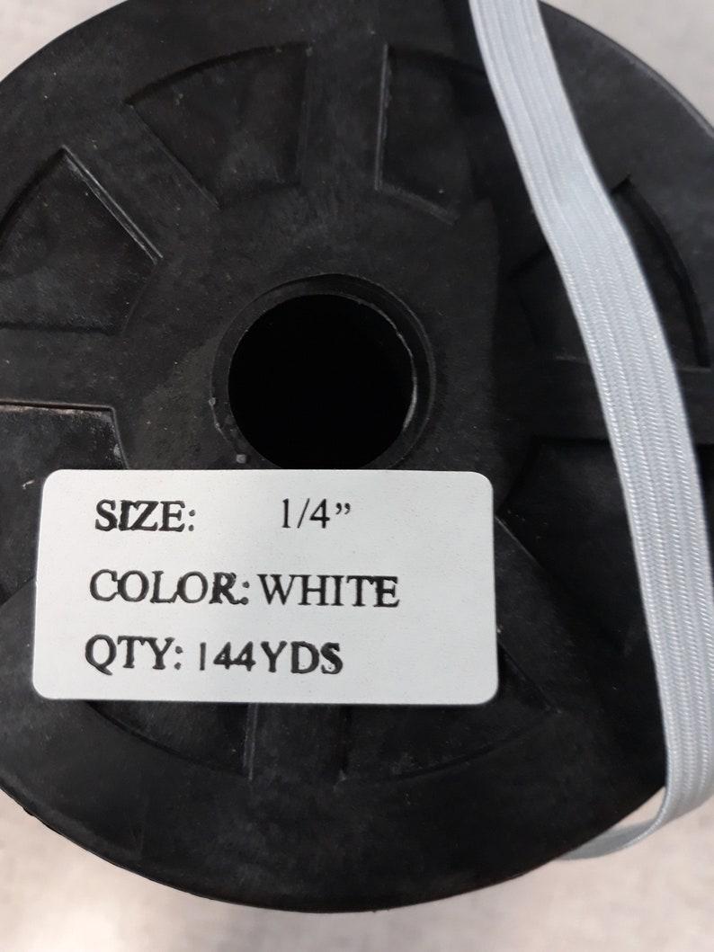 20 yards Braided White 14 elastics cord
