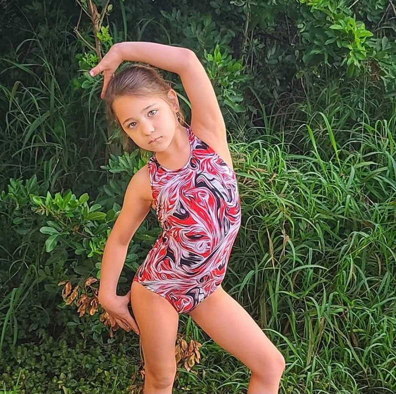 crayon leotard gymnastics Girls Gymnastics Melted Crayon Nightmare Leotard gymnastics leotard nightmare girls leotard girls dance