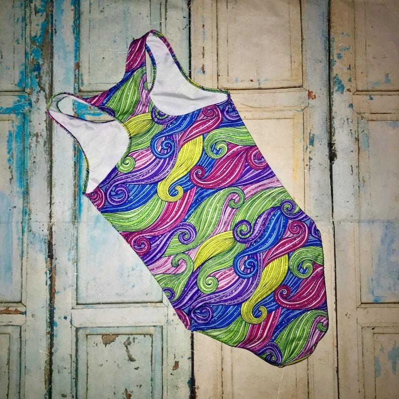 unicorn gymnastics leotard dance swim glitter swirls girls leotard unicorn hair gymnastics Girls Unicorn Hair Gymnastics Leotard
