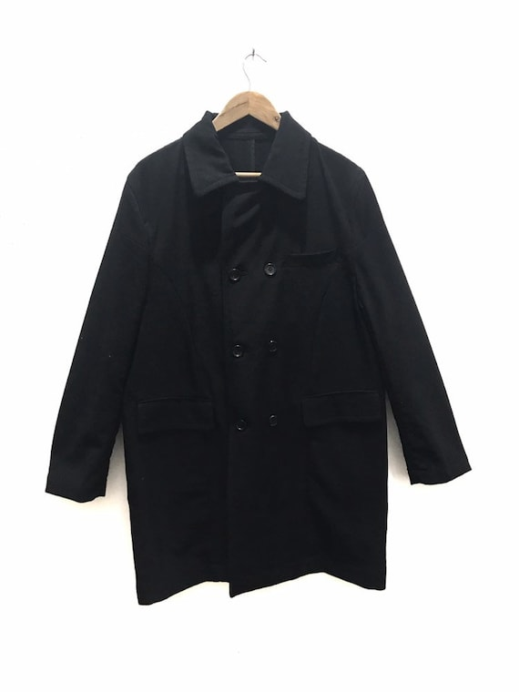 Commes des Garcons Homme Long Wool Nylon Jacket