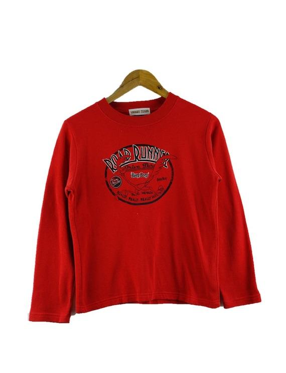 Vintage Road Runner Looney Tunes 1996 Waistcoat Retro Size L