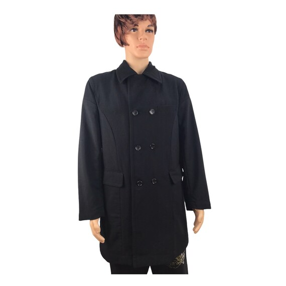 Commes des Garcons Homme Long Wool Nylon Jacket