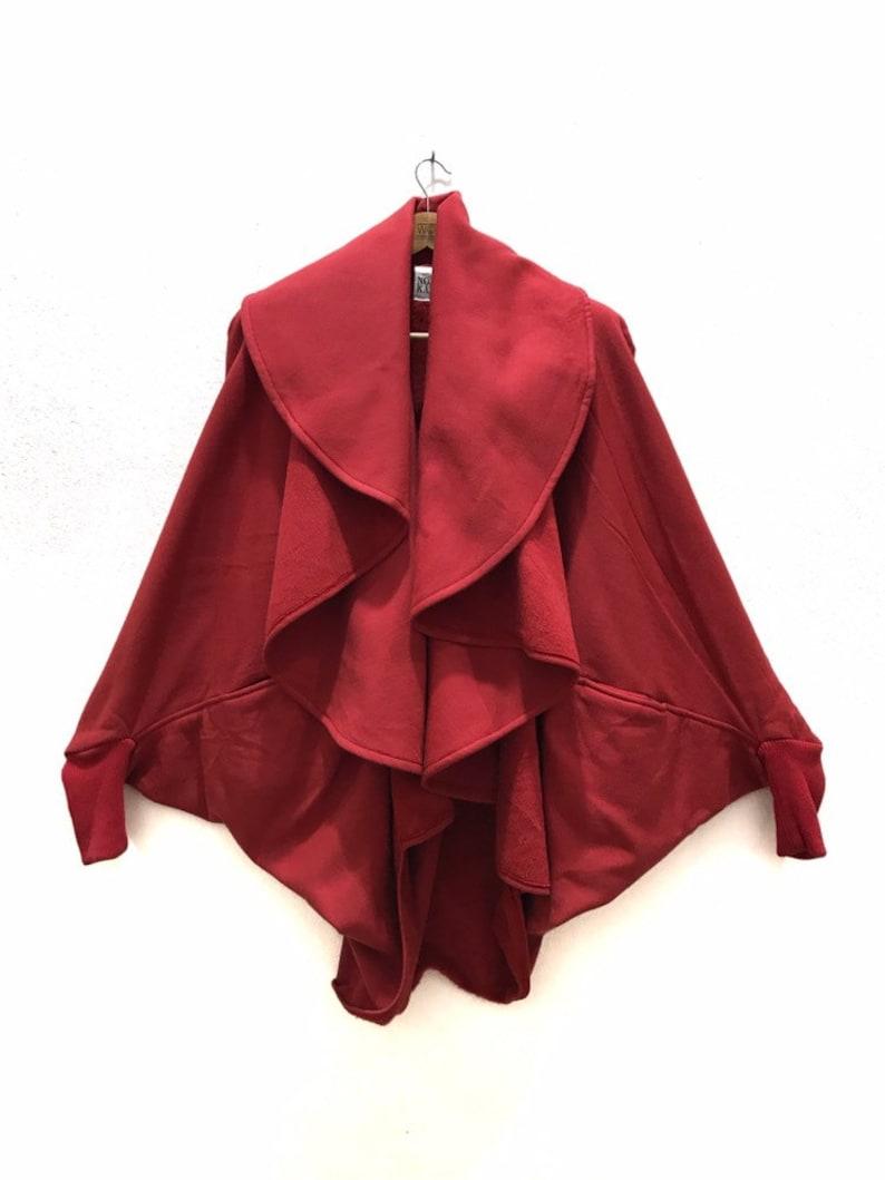 Vintage Norma Kamali Asymmetrical Batwing Cardigan Coat image 0