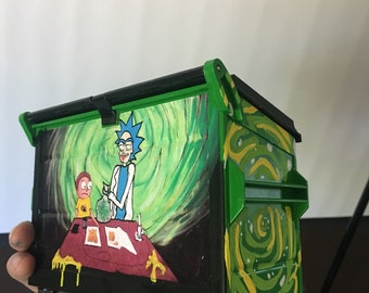 Rick and morty dab dumpster